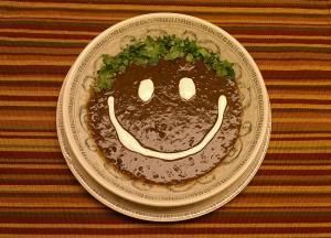 Black bean smile